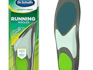 Dr  Schollas Running Insoles   Reduce Shock and Prevent Common Running Injuries  Runner s Knee  Plantar Fasciitis and Shin Splints for Men s 10 5 14
