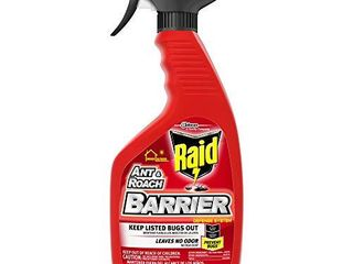 Raid Ant   Roach Barrier Spray  Killer for listed Bugs  Insect  Spider  For Indoor   Outdoor Use  22 Fl Oz  Pack of 1