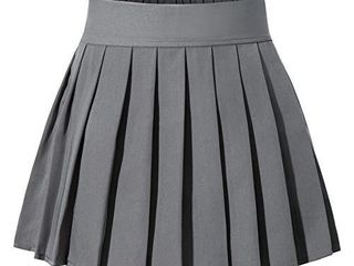 Japan Sexy Anime Short Pleated Party Cos Skirts l Dark Grey