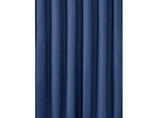 Mrs Awesome Extra long Water Repellent Embossed Microfiber Shower Curtain liner  Water Repellent  Odorless and Soft Feeling  71x84 inch  Navy Blue
