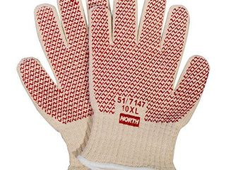 Honeywell North Grip N Hot Mill Nitrile Coated Men s Heat Resistant Gloves  7 gauge  large  RWS 57001