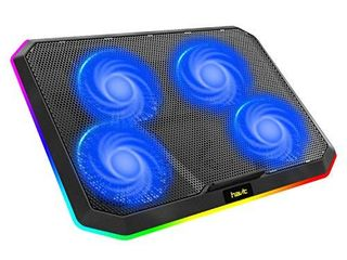 Havit RGB laptop Cooling Pad for 12 17 Inch laptop with 4 Quiet Cooling Fans  Ergonomic Comfort Notebook Cooler  light Weight Gaming laptop Cooler Stand