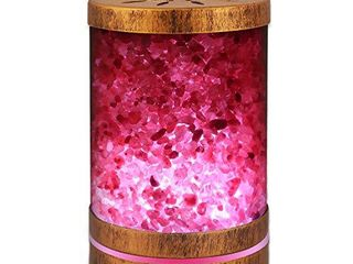 Sheoolor Essential Oil Diffuser Humidifier 120ml Bronze Himalayan Salt lamp Diffuser with 7 Color lights