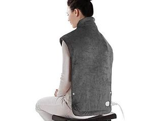 XXX large Electric Heating Pad for  6 Temperature Settings  Fast Heating  25  x 32  Dark Gray