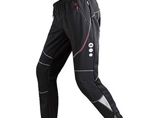 Santic Mens Cycling Pants Fleece Thermal Windproof Bike Trousers