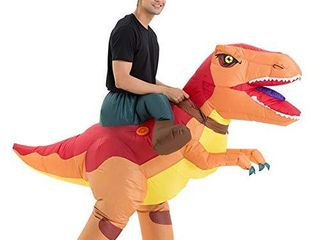 Costume Riding Trex Dinosaur Costume  Inflatable  Blow Up