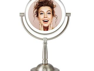 CO Z Makeup Mirror with lights  7  Plug in lED lighted Magnifying Vanity Mirror 1x 8X Magnification  Double Sided Cosmetic Mirror