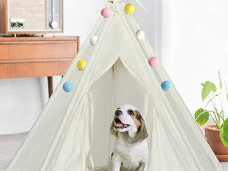 Ukadou Pet Teepee Tent bed for Dogs 24Inch