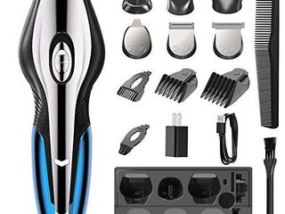 IPlBAI All in One Hair Clippers Beard Trimmer for Men 6 in 1 Multi Grooming Kit