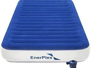 EnerPlex No Outlet Needed luxury Series Twin Air Mattress with High Speed Wireless Pump luxury Twin Size Airbed Inflatable Blow Up Bed USED