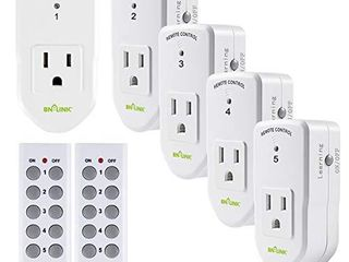 BN lINK ES1513 5 2 Wireless Remote Control Outlet with Extra long Range  5 Pack