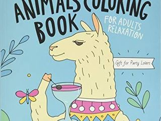 Drinking Animals Coloring Book For Adults