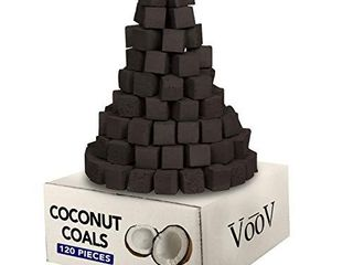 VooV large Coconut Hookah Charcoal Coals Cube Shaped a 120 Pieces  2kg  AMOUNT unknown not COUNTED