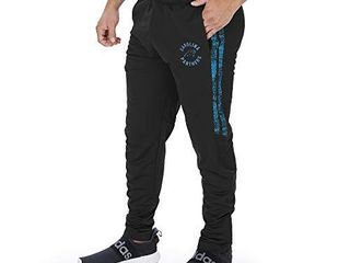 Zubaz NFl Carolina Panthers Men s Track Pant with Static Side Stripes  Solid Black  XX large