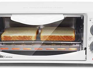 Elite Gourmet Personal 2 Slice Countertop 15 Minute Timer Toaster Oven  Broil  Toast  ETO 224