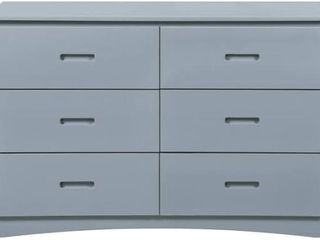 HomElegance Wooden Dresser with Six Drawers   Retail   665 00