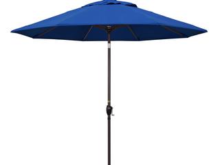 California Umbrella 9  Aluminum Collar Tilt Crank Patio Umbrella   Blue Pacifica   Retail 179 99