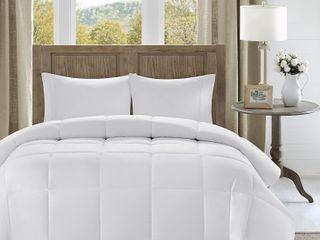 Madison Park Westport 300 Thread Count Cotton Percale luxury Down Alternative Comforter   Retail   105 99