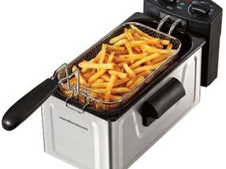 Hamilton Beach Stainless Steel 8 Cup Professional Style Deep Fryer   Retail   53 46