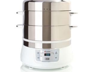 Euro Cuisine Stainless Steel Electric Food Steamer  Retail 149 99