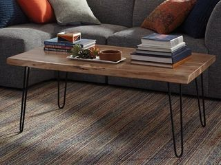 Carbon loft Czuchry Hairpin Mid century live Edge Coffee Table  Retail 360 49