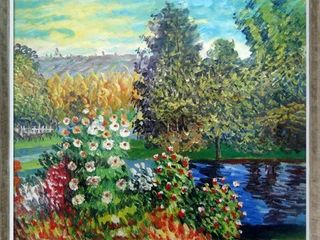 Claude Monet  Corner of the Garden at Montgeron  Hand Painted Oil Reproduction  Retail 242 99