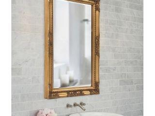 Howard Elliot Queen Ann Rectangular Gold Mirror   Retail   151 72