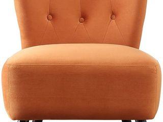 HomElegance Imani Velvet Accent Chair   Retail 179 99