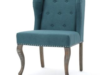 Niclas Wing Back Studded Fabric Accent Chair by Christopher Knight Home   Retail   187 04