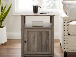The Gray Barn 18 inch Grooved Door Side Table   Retail 129 49