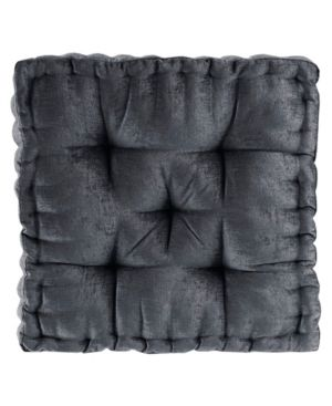 Intelligent Designs Charvi Poly Chenille Square Floor Pillow Cushion   Retail   44 79