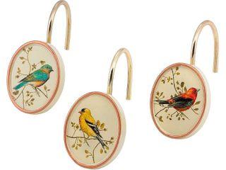 Gilded Birds Shower Hooks   Retail  18 99