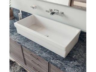 Alfi AB36TR 36  White   Above Mount Fireclay Bath Trough Sink   Retail   440 24