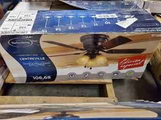 Harbor Breeze Centreville 42 in Oil Rubbed Bronze Indoor Flush Mount Ceiling Fan