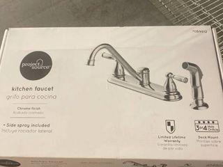 Project Source Chrome 2 handle Deck Mount low arc Kitchen Faucet lt6 104