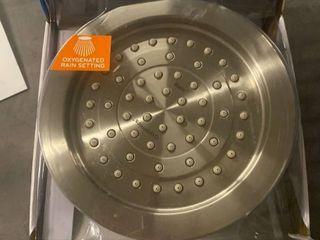 New Oxygenics Rain Brushed Nickel 1 Spray Rain Shower Head Model 45568