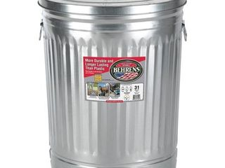 Behrens 1270 31 Gallon Trash Can with lid