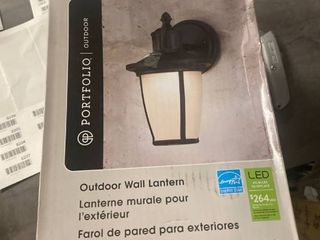 Portfolio 9 12 in H Matte Black led Outdoor Wall light Energy Star