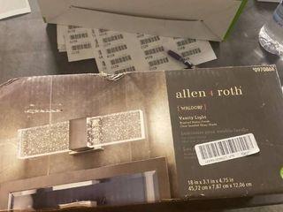 allen   roth Waldorf 1 light 18 in Brushed Nickel Rectangle lED Vanity light