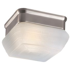 Project Source 7 09 in W Brushed Nickel Ceiling Flush Mount
