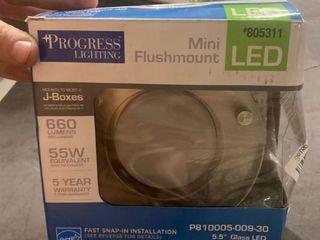 Progress lighting Mini Flushmount led 805307 Mounts To 5 5