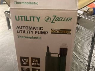 BOXED ZOEllER PRO SERIES 1 3 HP AUTOMATIC THERMOPlASTIC UTIlITY PUMP 1043 0006