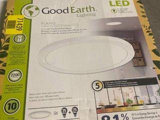 Good Earth lighting Plano 5 Cct 17 in Matte White led Flush Mount light