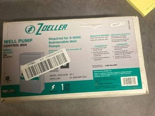 Zoeller Controller Box Well Pump