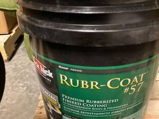 RUBR  COAT FIBERED COATING TO WEATHERPROOF ROOFS AND FOUNDATIONS