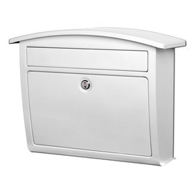 Architectural Mailboxes 16 3 8 in x 13 in Metal White lockable Wall Mount Mailbox