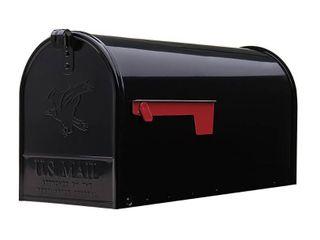 Gibraltar Mailboxes Elite large  Steel  Post Mount Mailbox  Black  E1600B00