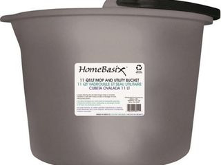 Mainstays Home  11 Qt  Bucket  1 Ct  White Bucket