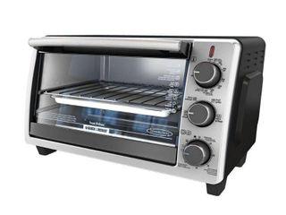 BlACK DECKER 6 Slice Toaster Oven  Black  TO1950SBD