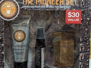 Beard Guyz 3 Pcs The Pioneer Set Original Grooming Company Conditioner Oil Comb